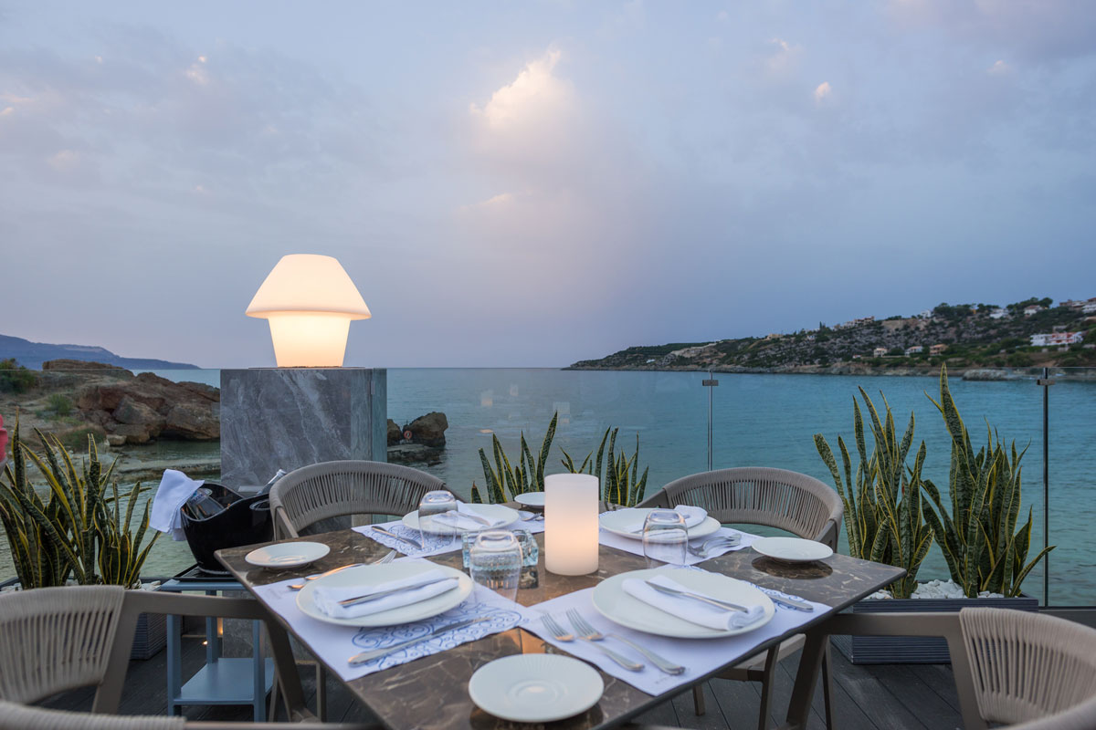 Restaurant with sea view in Chania- Luxury Restaurants in Chania- Almyvita Restaurant- Almyrida
