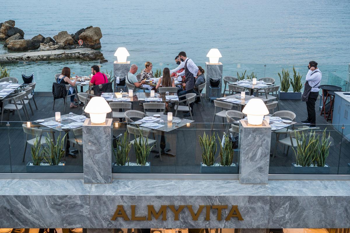 Sea view luxury restaurant Chania- Rated Restaurants Chania