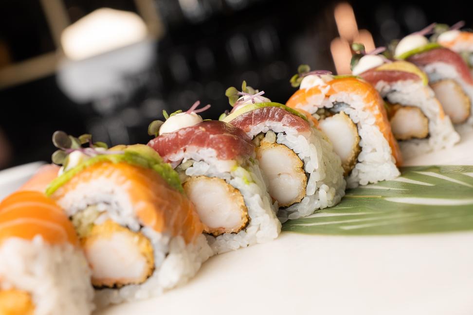 sushi in Chania- Sushi Plate in ALmyvita luxury seafood restaurant
