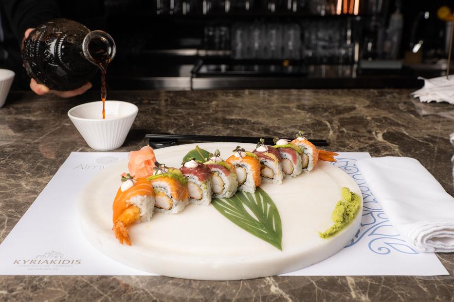 sushi food-sushi plate- sushi restaurant in Chania-Almyvita Luxury Seafood Restaurant